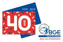Logo 40 Ans BGE Hauts-de-France